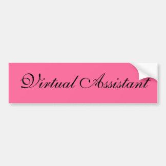 Autocolante no vidro traseiro assistente virtual adesivo para carro