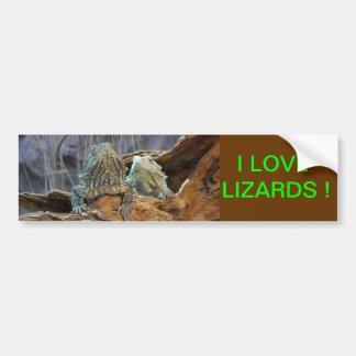 Autocolante no vidro traseiro com os dois lagartos adesivo para carro