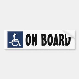 Autocolante no vidro traseiro da cadeira de rodas adesivo de para-choque