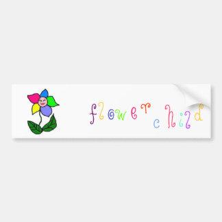 Autocolante no vidro traseiro da criança de flor adesivos