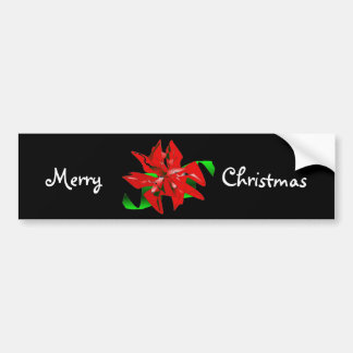 Autocolante no vidro traseiro da flor do Natal - c Adesivos