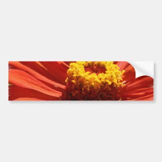 Autocolante no vidro traseiro da flor do Zinnia Adesivo Para Carro