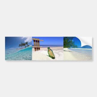 Autocolante no vidro traseiro da praia adesivo para carro