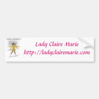 Autocolante no vidro traseiro da senhora Claire Ma Adesivo Para Carro