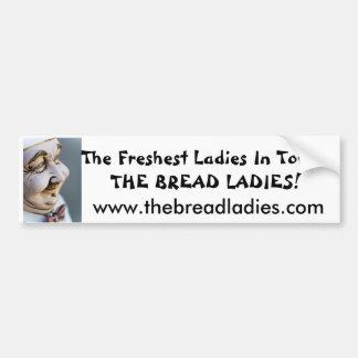 autocolante no vidro traseiro das senhoras do pão adesivo para carro