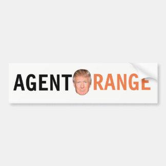 Autocolante no vidro traseiro de Agent Orange Adesivo Para Carro