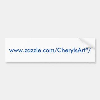 Autocolante no vidro traseiro de CherylsArt Adesivo De Para-choque