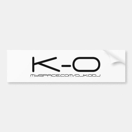 Autocolante no vidro traseiro de K-O Adesivo