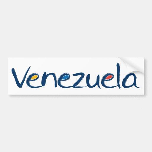 Autocolante no vidro traseiro de Venezuela Adesivo
