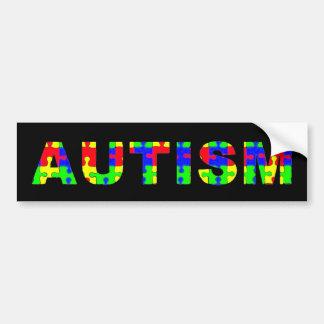 Autocolante no vidro traseiro do autismo adesivo para carro