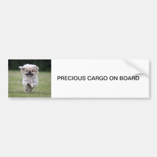 AUTOCOLANTE NO VIDRO TRASEIRO do cão de Pekingese, Adesivo Para Carro