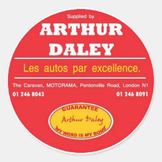 Autocolante no vidro traseiro do carro de Arthur