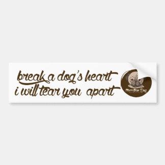 Autocolante no vidro traseiro do coração do cão! adesivo para carro