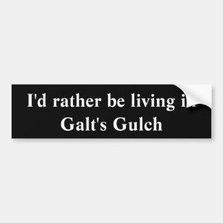 Autocolante no vidro traseiro do Gulch de Galt Adesivos