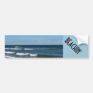 Autocolante no vidro traseiro do in da praia adesivo para carro