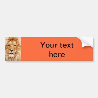 Autocolante no vidro traseiro do leão adesivo para carro