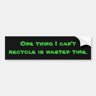 Autocolante no vidro traseiro do reciclar adesivo