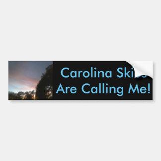 Autocolante no vidro traseiro dos céus de Carolina Adesivo De Para-choque