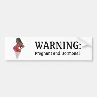 Autocolante no vidro traseiro ENGRAÇADO grávido e  Adesivos