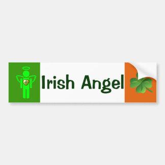 Autocolante no vidro traseiro irlandês do anjo adesivo