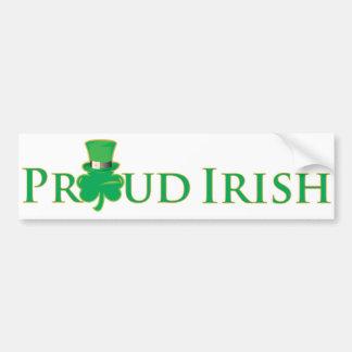 Autocolante no vidro traseiro irlandês orgulhoso adesivos