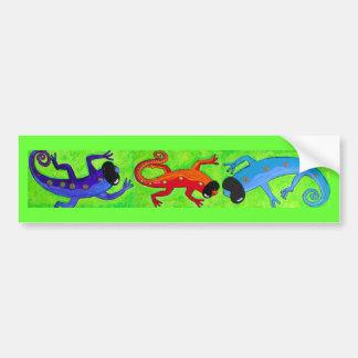 Autocolante no vidro traseiro - lagartos nos óculo adesivo para carro