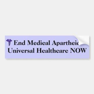Autocolante no vidro traseiro médico do Apartheid  Adesivo Para Carro