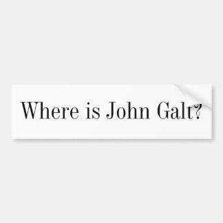 Autocolante no vidro traseiro - onde é John Galt? Adesivo