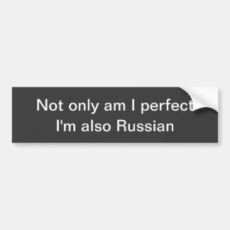 Autocolante no vidro traseiro perfeito do russo adesivo para carro
