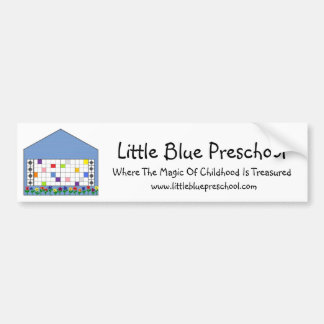 Autocolante no vidro traseiro pré-escolar azul peq adesivo para carro