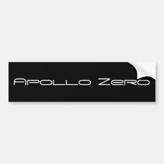 Autocolante no vidro traseiro zero de Apollo, pret Adesivo Para Carro