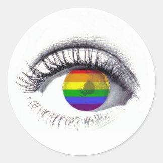 Autocolante Rainbow Eye