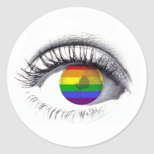 Autocolante Rainbow Eye