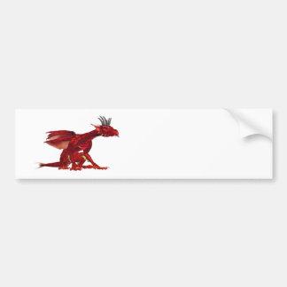 Autocolantes no vidro traseiro vermelhos do dragão adesivo para carro
