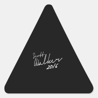 Autógrafo 2016 do caminhante de Scott - eleição Adesivos Triângulo