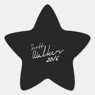 Autógrafo 2016 do caminhante de Scott - eleição Adesivo Estrela