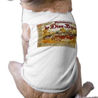 Automóveis de Dion-Bouton Camisa Sem Mangas Para Cachorro