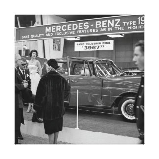 Automóvel 1963 de Mercedes-Benz da feira automóvel Impressão Em Canvas