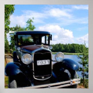 Automóvel velho em Wegen novos Posteres