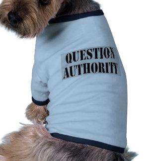 Autoridade da pergunta roupa para pet
