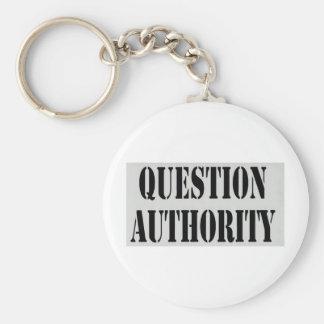 Autoridade da pergunta chaveiro
