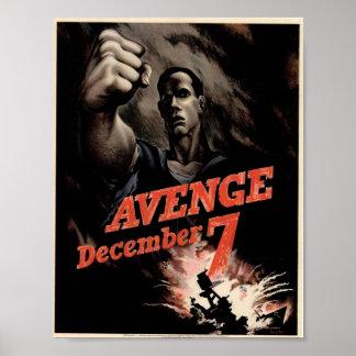 Avenge o poster do escritório da guerra do vintage