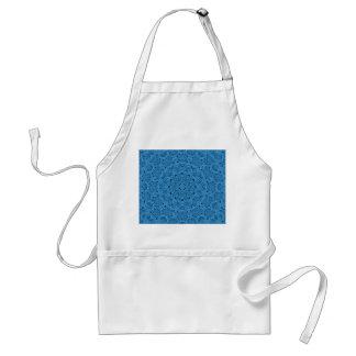 Aventais azuis decorativos do caleidoscópio