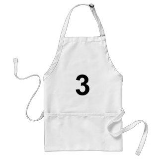 Avental 3 - número três