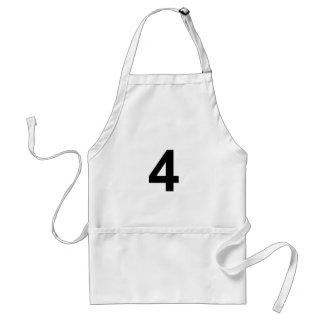 Avental 4 - número quatro