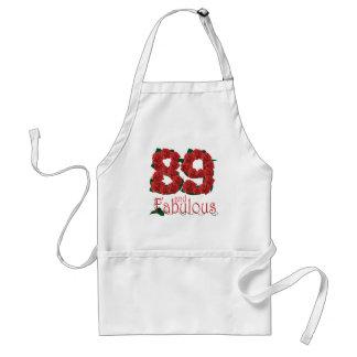 Avental 89 e 89th rosas vermelhas fabulosas do aniversário