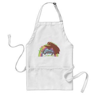 Avental Arco-íris retro do hippie da preguiça engraçada