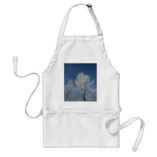 Avental Árvores rústicas do inverno da cena da neve do céu
