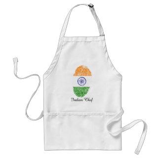 Avental Bandeira indiana da impressão digital do toque