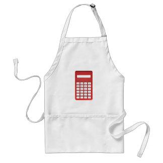 Avental Calculadora vermelha da calculadora